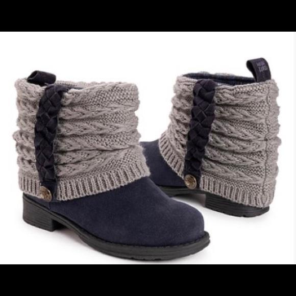 Navy & Gray Strap-Accent Kael Boot - Women
